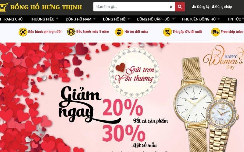 cửa hàng đồng hồ nam giá rẻ tphcm Hưng Thịnh