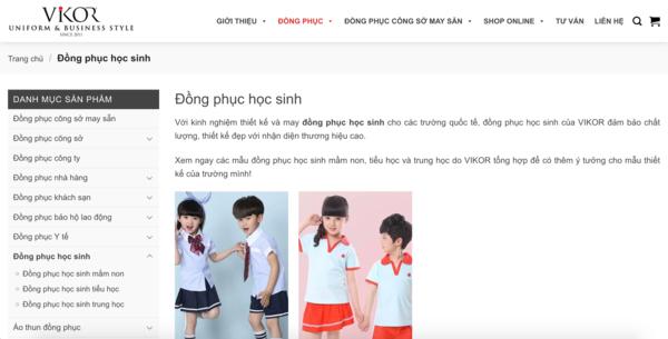 Vikor Uniform - Công ty may đồng phục học sinh đẹp và uy tín