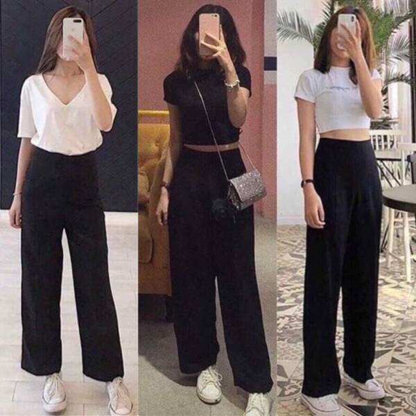 Quần culottes dài