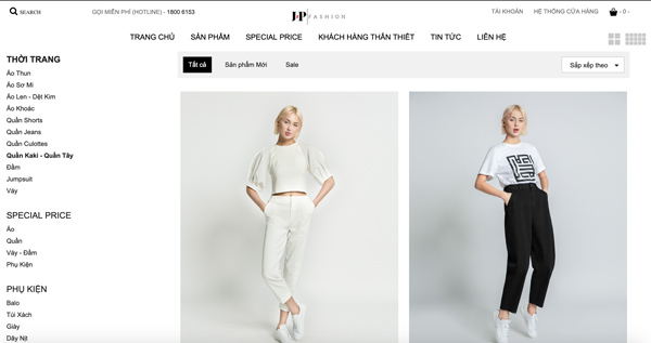 J-P Fashion- Quần Tây Nữ